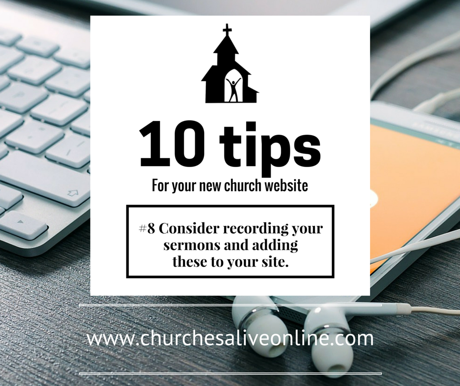 #8 Consider recording your sermons