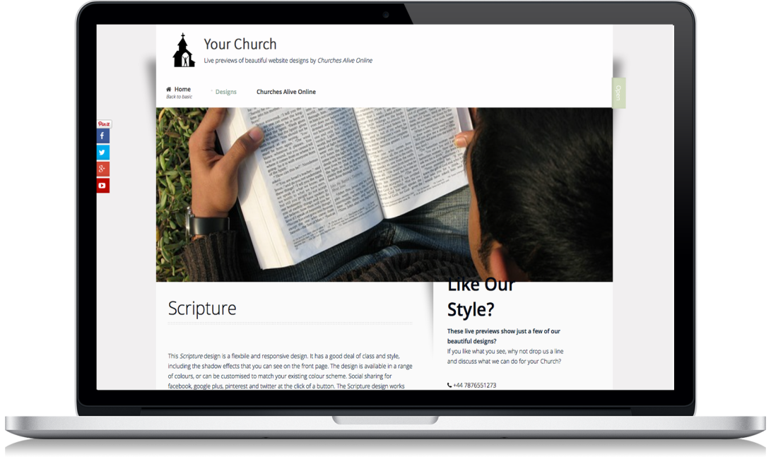 Website Design for UK Churches
