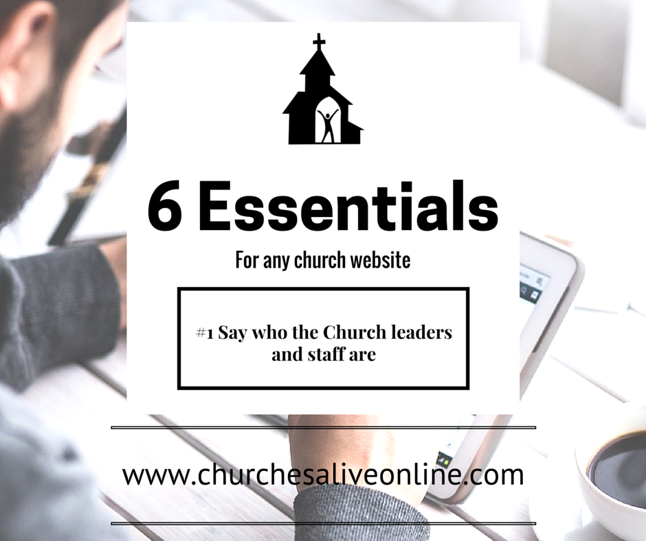 6 Church Website Essentials - Number 1