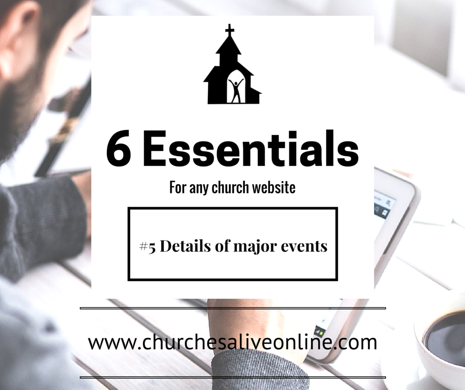 6 Church Website Essentials - Number 5