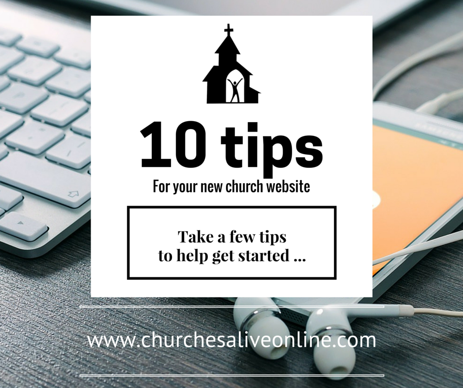 10 tips for your new church website